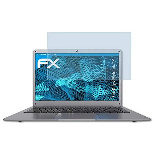 atFolix Schutzfolie kompatibel mit Odys Mybook 14 Folie, ultraklare FX Displayschutzfolie (2X)
