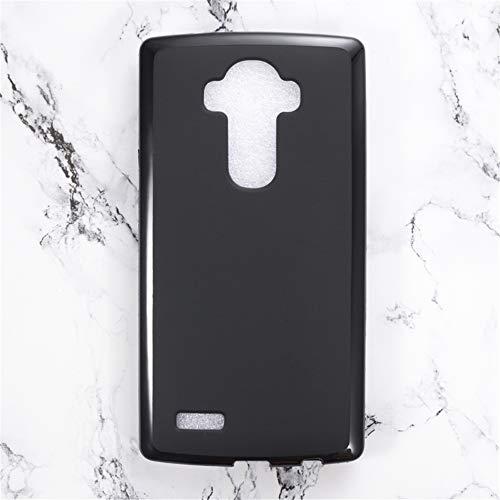 Funda para LG G4, resistente a los arañazos, cubierta trasera de TPU suave a prueba de golpes de gel de silicona antihuellas, carcasa protectora de cuerpo completo para LG G4 (negro)