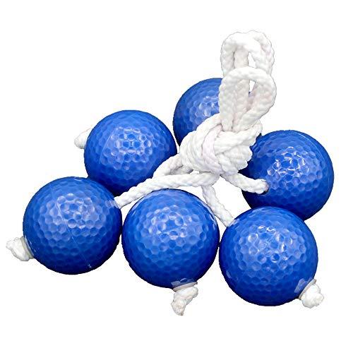 Wenxiaw Leiter Golfball Leitergolf Outdoor Weich und Langlebig Leitergolf Wurfspiel Leitergolf Bälle für Erwachsene und Kinder Beach Party Fun Game, Kinder Outdoor Spielzeug 42mm, 3 Paar (Blau)