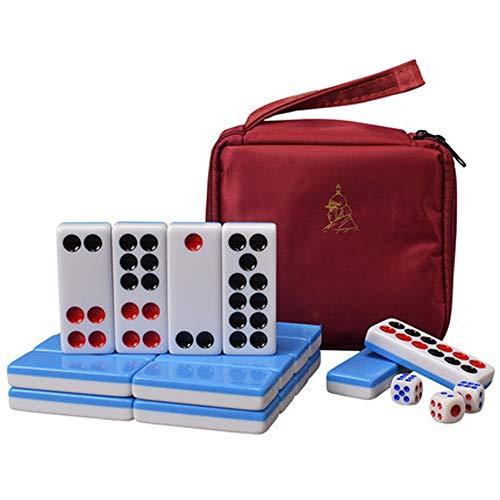 Liergou-Accessories Melamin Pai Gow Domino High-End Home Bamboo Silk chinesischen Pai Gow Paigow Spiel Casino Fun Guangdong Hong Kong Mahjong (Farbe : Schwarz, Größe : 135×125×50mm)