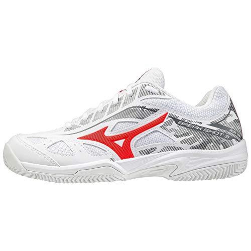 Mizuno Breakshot 3 CC, Zapatos de Tenis Hombre, Castlerock Blanco Negro, 38.5 EU
