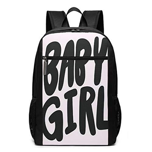 Schulrucksack Glückwunsch, es ist Baby Girl, Schultaschen Teenager Rucksack Schultasche Schulrucksäcke Backpack für Damen Herren Junge Mädchen 15,6 Zoll Notebook