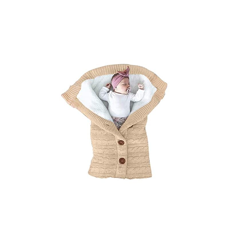 crib bedding and baby bedding xmwealthy unisex infant swaddle blankets soft thick fleece knit baby girls boys stroller wraps baby accessory khaki