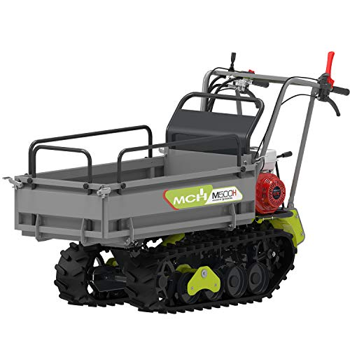 MCH M500H Motorised Wheelbarrow with Caterpillars, Mini Compact Transporters up to 500 kg, MCH Motor with eStart, Box 6+2, RBS technology, Hydraulic Bennage