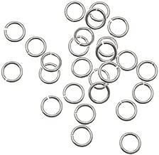 Beadaholique 20-Piece Sterling Open Jump Rings, 4mm, 21-Gauge, Silver