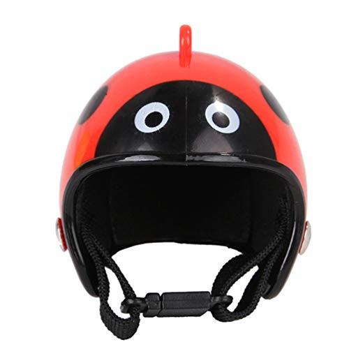 Balacoo Huhn Helm Haustier Hut Lustige Haustier Schutzausrüstung Sonne Regen Kopfbedeckung Spielzeug Kostüme Zubehör für Vogel Hühner Haustierzubehör (Marienkäfer)