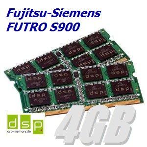 DSP Memory 4GB Speicher/RAM für Fujitsu-Siemens FUTRO S900 (Set aus 2 Modulen)