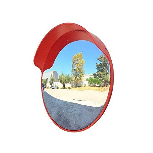 Espejo de tráfico Convexo de Calle, Resistente a la Intemperie Lente Gran Angular Espejo Convexo Duradero Espejo de Punto Ciego de Garaje (Tamaño: 120 cm)