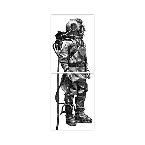 Boubouki - Wasserabweisende Fliesenaufkleber für Bad und Küche - Fliesen-Aufkleber, Kacheln in allen gängigen Größen - Taucher-small Poster - 15x20cm, Opaque