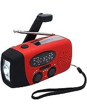 housesweet Emergency Hand Crank Radio AM/FM NOAA Solar Weer Radio met LED Zaklamp, SOS Alarm, 1000mAh Power Bank Waterdichte USB voor Telefoon Opladen