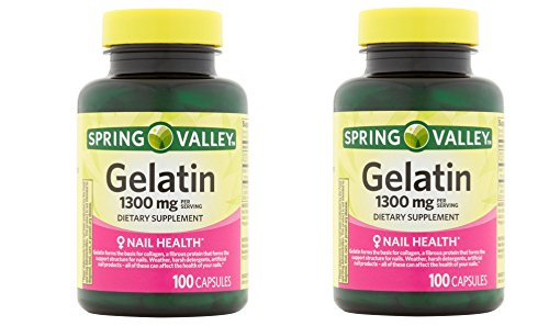 Spring Valley Gelatin Capsules, 1300 mg, 100 count (2 Pack)