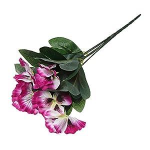 Silk Flower Arrangements Wreaths & Garlands, 10 Head Festival Simulation Wedding Home Room Pansy Flower Artificial Silk Bouquet Plant Bunch Floral Decor