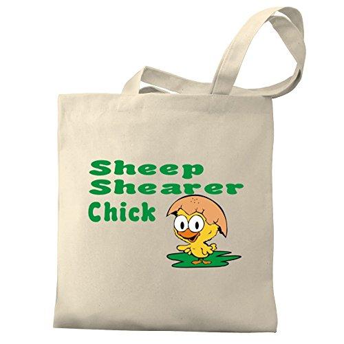 Eddany Sheep Shearer chick Canvas Tote Bag
