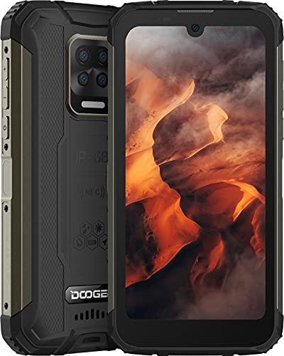 Rugged Smartphone, DOOGEE S59 Cellulare Antiurto 10050mAh Super Batteria, 4GB + 64GB, Altoparlante da 2W, 5,71 Pollici HD+, 16MP Quad Fotocamera, 4G Dual SIM Android 10 Telefono Robusto, IP68 GPS NFC