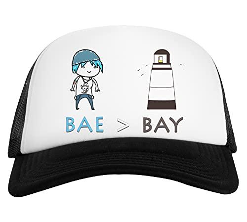 Bae Aver Bay Life Is Strange Gorra De Béisbol Unisex Blanca Negra White Black Baseball Cap