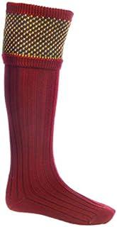 House Of Cheviot Tayside Shooting Socks - Brick Red (Medium)