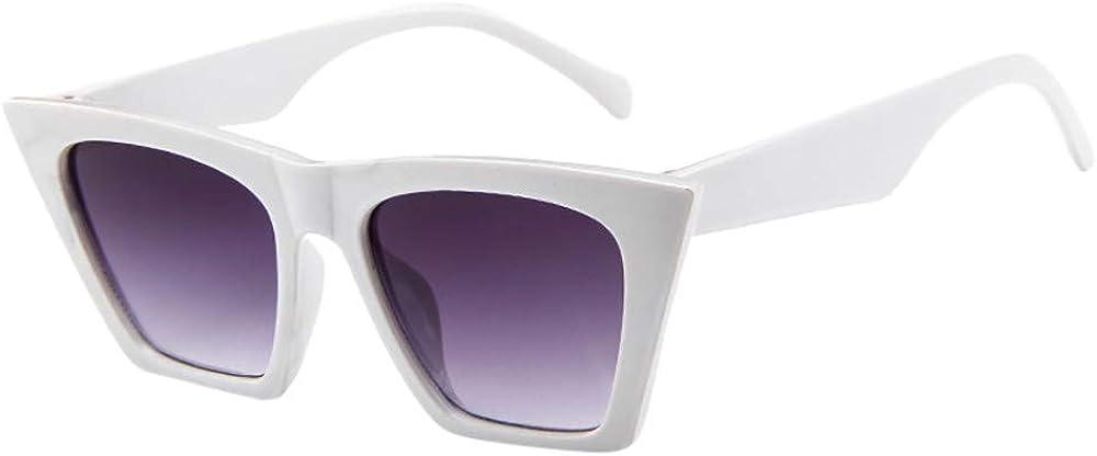 Womens Sunglasses Polarised Adults Square Sunglasses Anti Glare Glasses Fashion Cat Eye Reflective Retro Glasses Eyewear UV400 Protection for Night Driving Travelling Fishing Outdoors