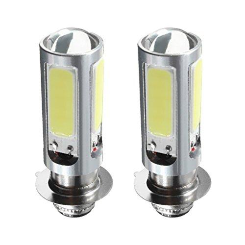 Homyl 2pcs 12V 5 COB SMD LED 6000 K Blanc Ampoule Brouillard de Phare de Moto ATV