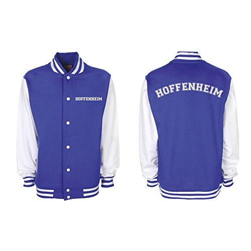 Shirt-Panda College Jacke Hoffenheim Baseball Jacke Damen Herren XS-3XL Royal Blue/White XL
