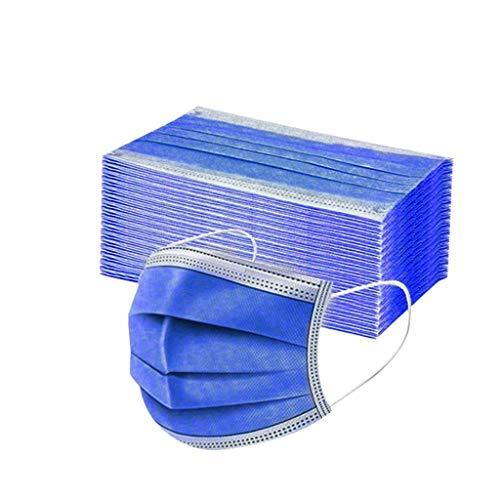 Generisch 50 Stück Mundschutz Einweg 3-lagig Einfarbig Druck Face Cover Atmungsaktiv Mund und Nasenschutz Bedeckung Multifunktionstuch Halstuch