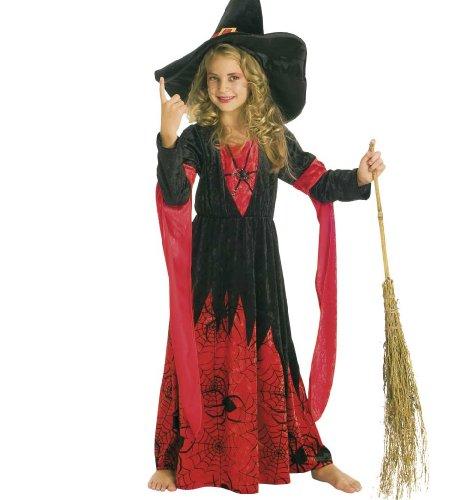 Costume Bambino Carnevale 11442 Samantha Vestito Strega, Halloween: Dimensione: 128