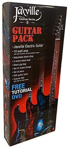 Pack de guitarra electrica Jaxville ST1HDPK amplificador, funda, cable, cuerdas y puas...