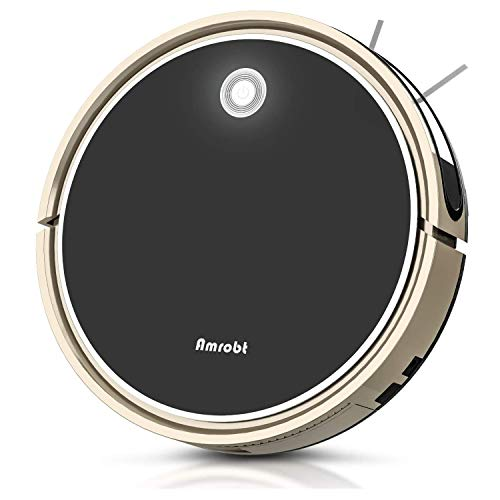 Robot Vacuum Mop, Amrobt Robotic Vacuum Cleaner with Wi-Fi Connectivity/Remote Control, 1600Pa Power Suction, Self-Charging Vacuum for Pet Hair, Carpet & All Types of Floor.