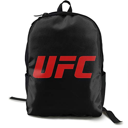 UFC Logo Rucksack, Daypack Tagesrucksack Für Schule, Arbeit Und Uni, Sportrucksack Und Schultasche Mit Laptopfach Und Rückenpolster