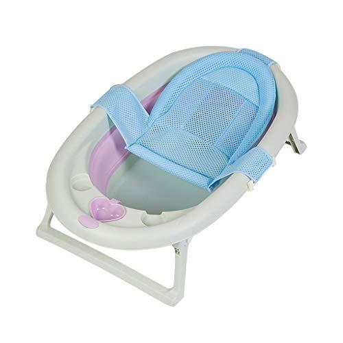 Lizhiqiang Opvouwbare badkuip, voor kleine kinderen, baby's, douchebak, draagbaar, opvouwbaar, voor baby's, met net, om op te zitten en te slapen, 3 kleuren