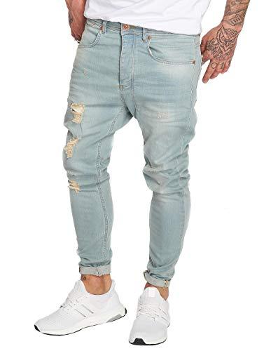 VSCT Clubwear Herren Slim Fit Jeans Keanu Lowcrotch blau W 34 L 34