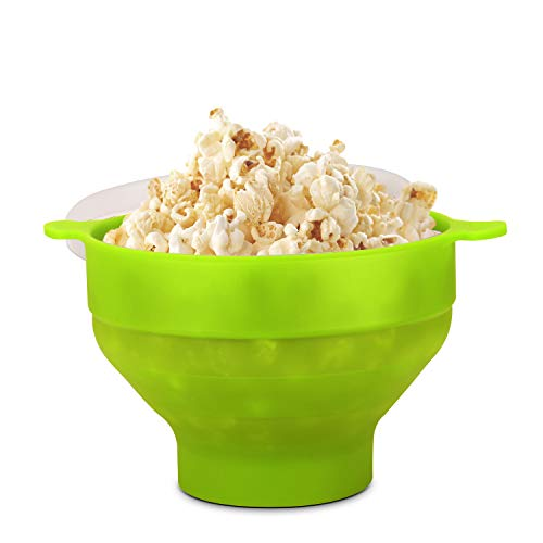 Learn More About Flexzion Microwave Popcorn Popper Maker with Lid, Collapsible Silicone Bowl, Food-G...