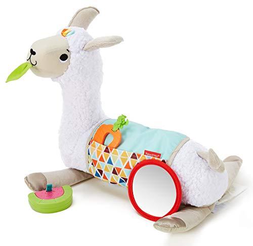 Fisher-Price Mon Coussin d'éveil Lama en peluche avec 3 jouets amovibles, jeu sur le ventre et...