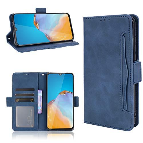 SPAK Cubot Note 20/Note 20 Pro Funda,Ultra Slim PU Leather Flip Cubierta con Función de Soporte Protectora Carcasa Caso para Cubot Note 20/Note 20 Pro (Azul)