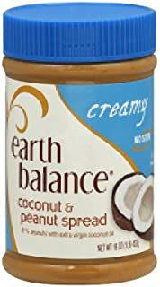 Earth Balance Creamy Coconut Peanut Butter 16 Oz (Pack of 6)