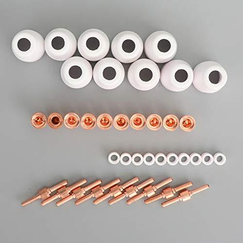 Soplete de Soldadura, 50 PCS PT31 PLASMA PLASMA PLASMA PLASMA extendido como ESAB/L-TEC PT-31, JG-40 y WSD-LG40 Accesorios de soldadura