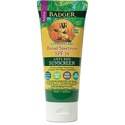Badger Balm Anti-Bug Sunscreen - SPF 34-2.9 oz
