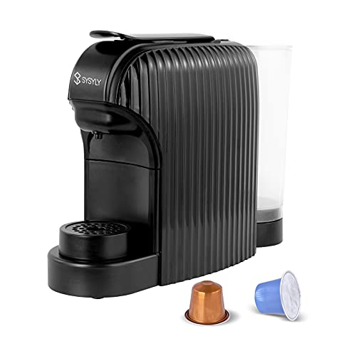 Máquina de café espresso, Máquina de café de cápsulas, Cafetera monodosis compatible con cápsulas Nespresso, bomba...