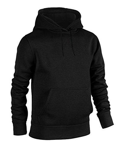 Urban Streetwear Heavy Blend Plain Hoody Men Women Black