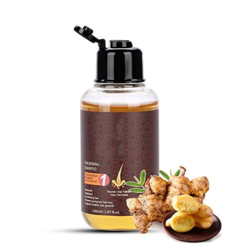 100ml Anti-hair loss shampoo Natural herbal essence Ginger extract Effective Solution for Hair Thinning and Breakage for men women Helps Stop Hair Loss