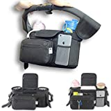 My Mommy Break - Borsa organizer da viaggio per passeggino, durevole, multifunzionale, facile da installare, con tracolla e tasca rimovibile