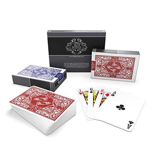 Bullets Playing Cards Cartas de juego de plastico. 2 x Baraja poker de medidas Bridge e índice Standard. Naipes Premium plastificadas ideales para Bridge, Skat, otros juegos y trucos de magia