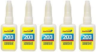 Pidilite Fevikwik 203 Cyanoacrylate Adhesive 100 ml - 5 U x 20 ml each
