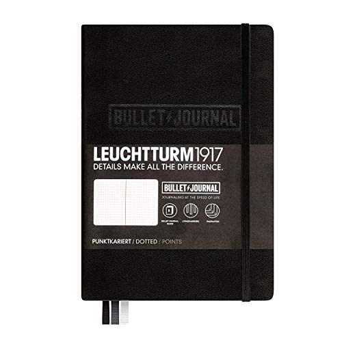 Leuchtturm1917 Medium A5 Notebook- Bullet Journal Special Edition- 240 Numbered Pages, Black