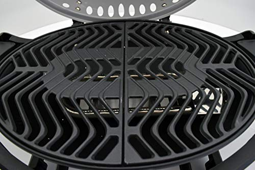 ACTIVA Grill Tischgasgrill Tischgrill Gas Crosby, Camping Grill, 3,4 KW Brenner, Outdoor Tischgrill Grau - 5