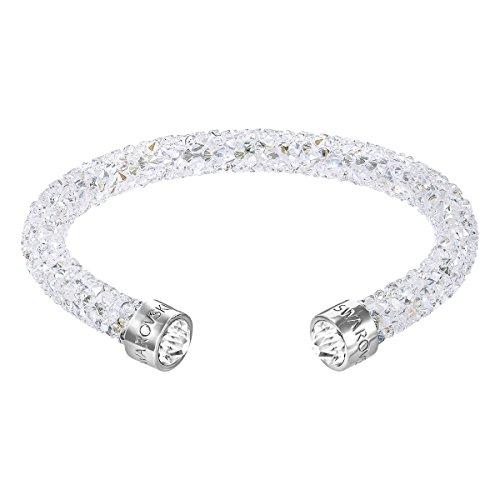 Swarovski Manchette Crystaldust, blanc, acier inoxydable