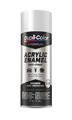 EPAE11100 Dupli-Color Flat White Premium Acrylic Enamel Spray Paint 12 oz