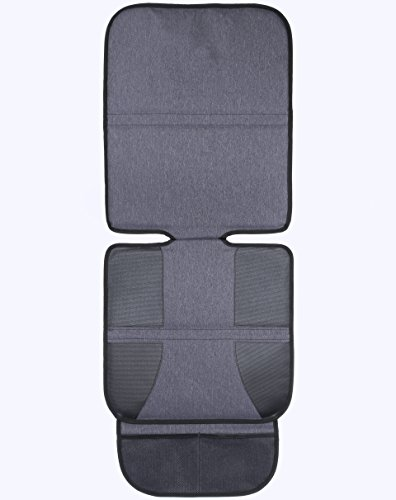 Car Seat Protector Premium Quality – Grey Durable Stylish Fabric - High Back for Maximum Security, Support & Protection