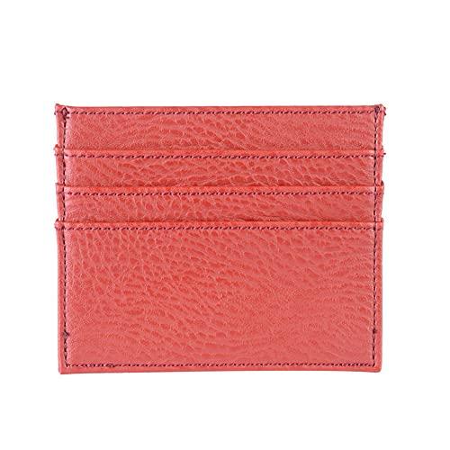 Tarjetero pequeño ultrafino tarjetero compacto para mujer tarjetero con personalidad tarjetero lindo mini monedero tarjetero de doble cara-rojo