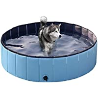 Yaheetech Foldable Hard Plastic Large Dog Pet Bath Swimming Pool