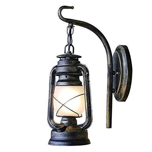 XFZ wandlamp van ijzer uit brons in de stijl van de Amerikaanse afzuigkap, wandlamp, voor balkon, hal, trappenhuis, ideeën, nostalgische hanglamp
